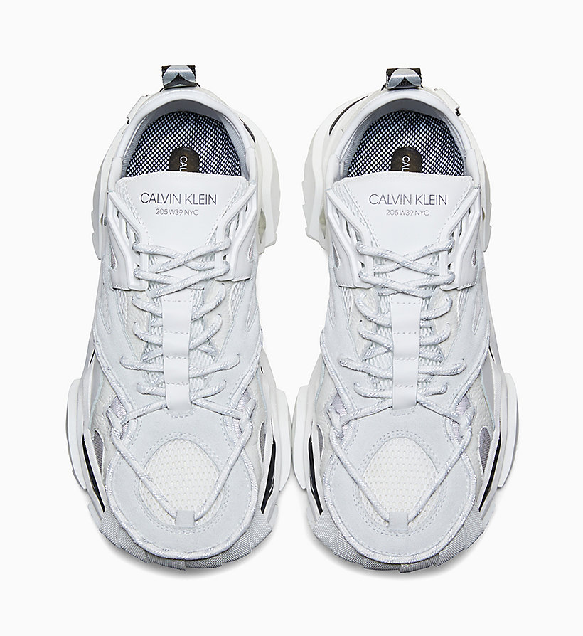 205W39NYC Heavy Tread Athletic Leather Trainers - WHITE - 205W39NYC WOMEN - detail image 2