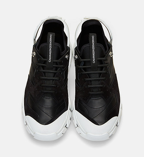CALVIN KLEIN COLLECTION Nappa Suede Lace-Up Athletic Sneakers - BLACK/BLACK - CALVIN KLEIN COLLECTION 205W39NYC - detail image 1