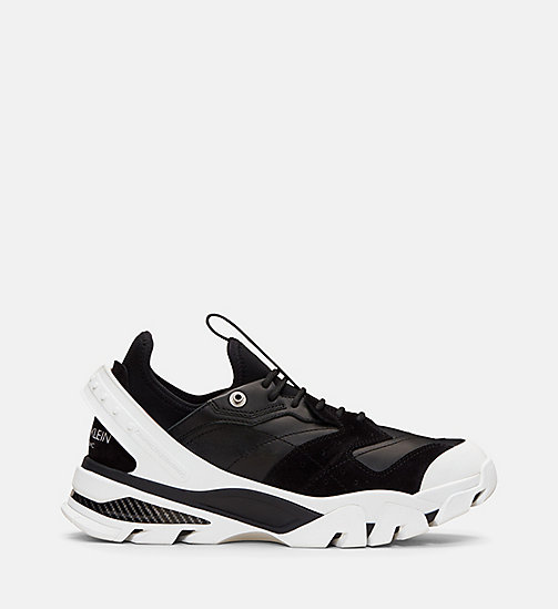 CALVIN KLEIN COLLECTION Nappa Suede Lace-Up Athletic Sneakers - BLACK/BLACK - CALVIN KLEIN COLLECTION 205W39NYC - main image