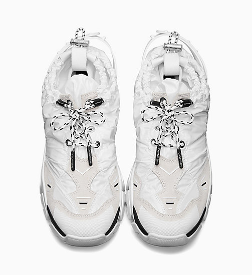 205W39NYC Shiny Nylon Drawcord Athletic Trainers - WHITE - 205W39NYC SHOES & ACCESSORIES - detail image 1
