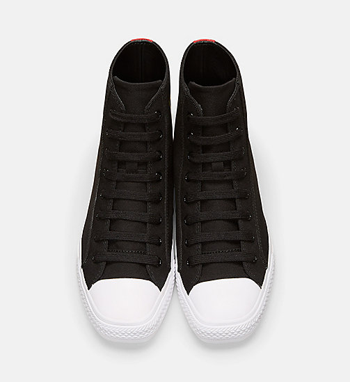 CALVINKLEIN Canvas High-Top Sneakers - BLACK - CALVIN KLEIN MEN - detail image 1