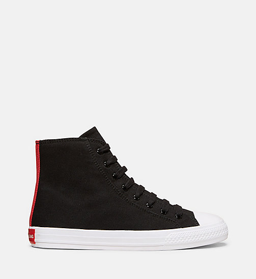 CALVINKLEIN Canvas High Top Sneakers - BLACK - CALVIN KLEIN HERREN - main image