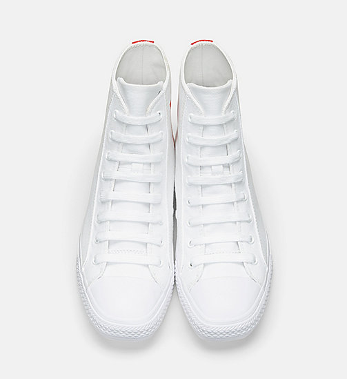 CALVINKLEIN Canvas High Top Sneakers - WHITE - CALVIN KLEIN HERREN - main image 1