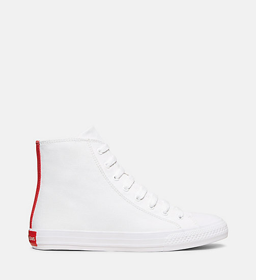 CALVINKLEIN Canvas High-Top Sneakers - WHITE - CALVIN KLEIN MEN - main image