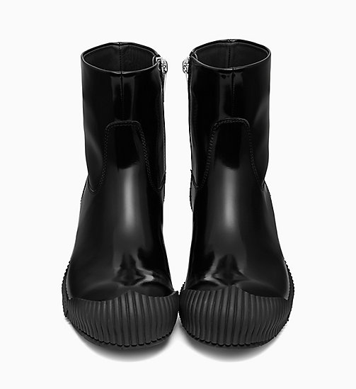 205W39NYC Fireman Ankle Boots in Calf Leather - BLACK - 205W39NYC SHOES & ACCESSORIES - detail image 1