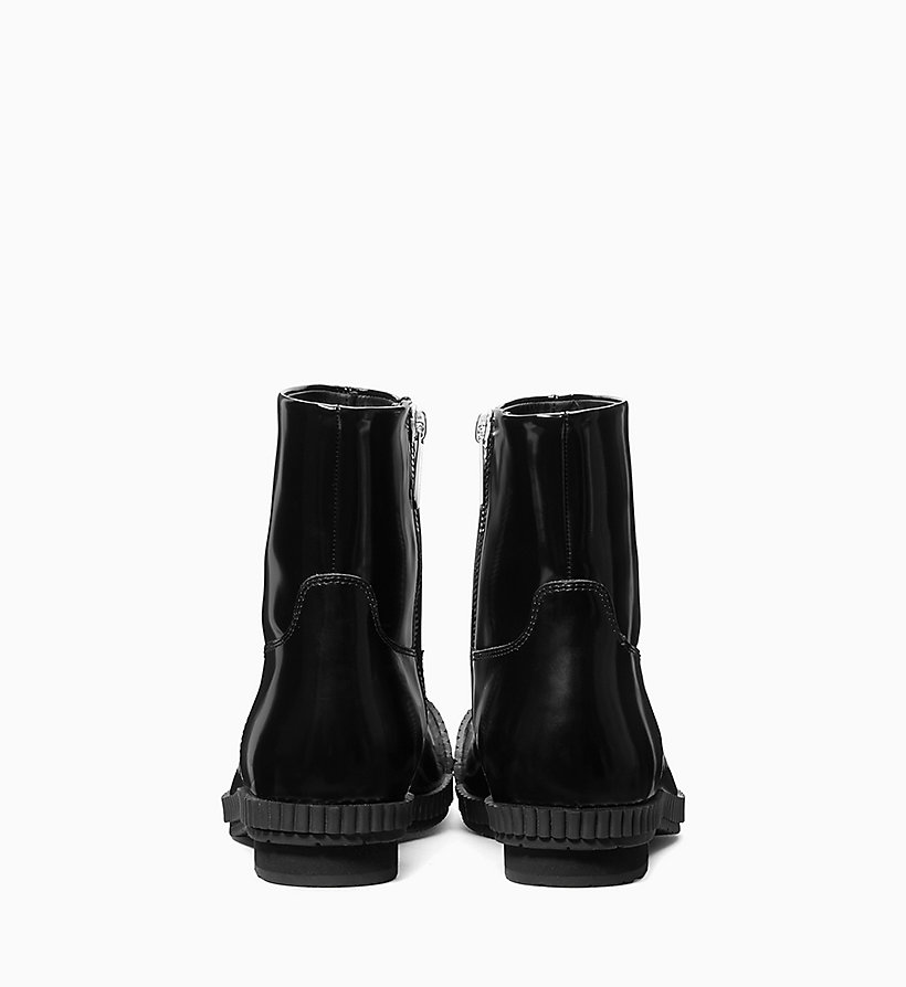 205W39NYC Fireman Ankle Boots in Calf Leather - WHITE - 205W39NYC MEN - detail image 2