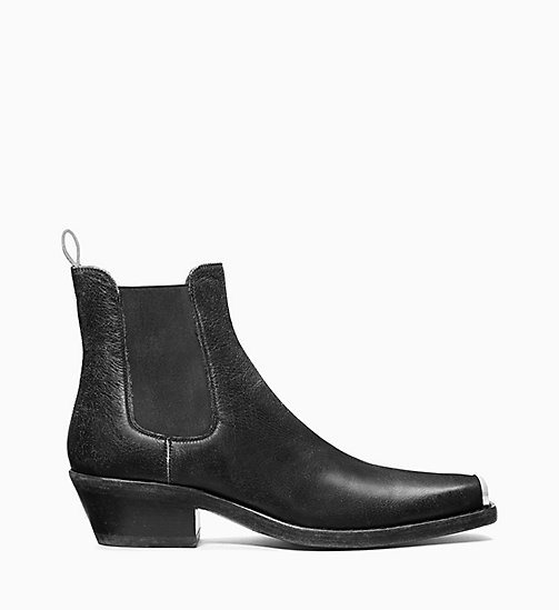 205W39NYC Western Chelsea Boots in Calf Leather - BLACK - 205W39NYC SHOES & ACCESSORIES - main image