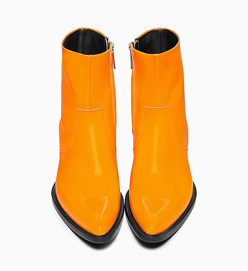 205W39NYC Western Ankle Boots in Patent Leather - ORANGE - 205W39NYC SHOES & ACCESSORIES - detail image 1