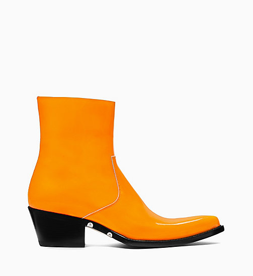 205W39NYC Western Ankle Boots in Patent Leather - ORANGE - 205W39NYC SHOES & ACCESSORIES - main image