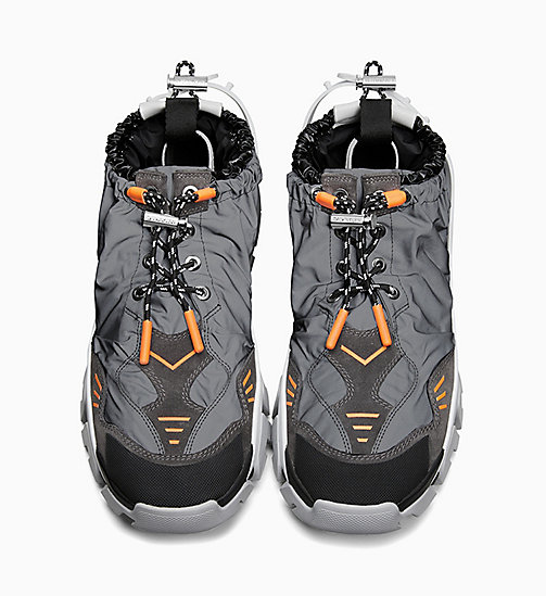 205W39NYC Athletic Sneakers in Reflective Nylon - GREY/BLACK/WHITE/ORANGE - 205W39NYC SHOES & ACCESSORIES - detail image 1