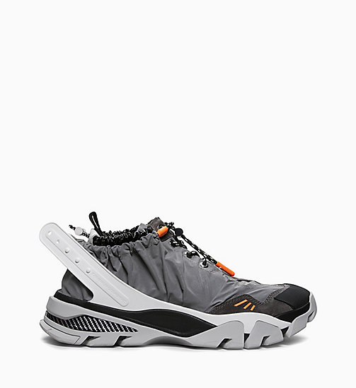 205W39NYC Athletic Sneakers in Reflective Nylon - GREY/BLACK/WHITE/ORANGE - 205W39NYC SHOES & ACCESSORIES - main image