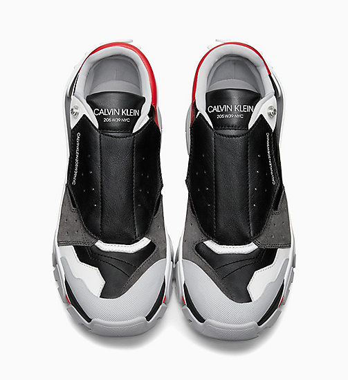 205W39NYC Athletic Sneakers in Nappa Leather - BLACK/WHITE/RED/GREY - 205W39NYC SHOES & ACCESSORIES - detail image 1