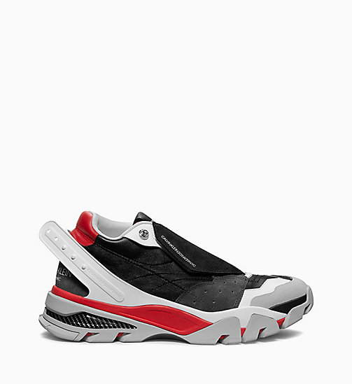 205W39NYC Athletic Sneakers in Nappa Leather - BLACK/WHITE/RED/GREY - 205W39NYC SHOES & ACCESSORIES - main image