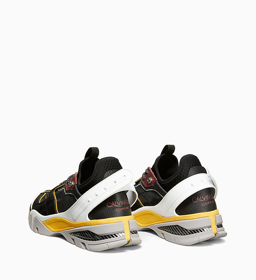 205W39NYC Carlos 10 Nappa Leather Trainers - CITRINE/RED/WHITE/YELLOW - 205W39NYC MEN - detail image 1