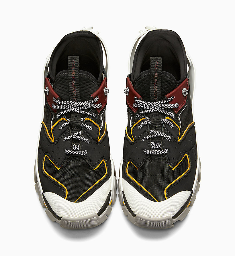 205W39NYC Carlos 10 Nappa Leather Trainers - CITRINE/RED/WHITE/YELLOW - 205W39NYC MEN - detail image 2