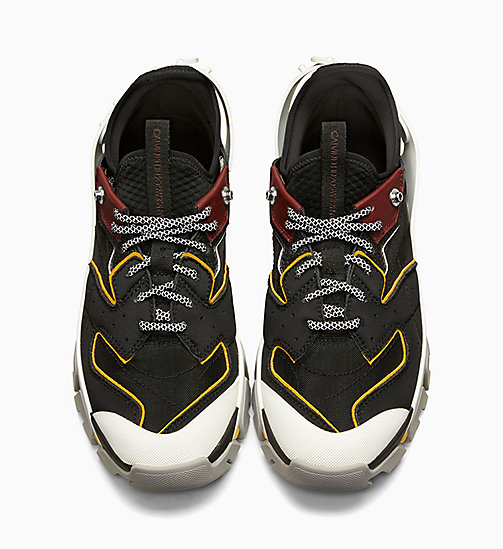 CALVIN KLEIN COLLECTION Carlos 10 Nappa Leather Trainers - MULTI - CALVIN KLEIN COLLECTION SHOES & ACCESSORIES - detail image 1