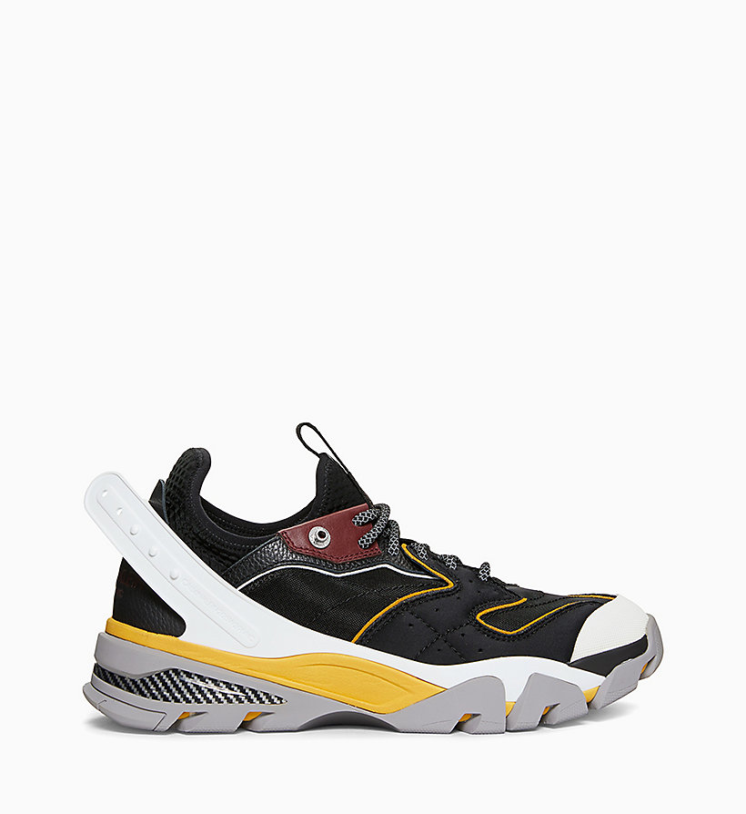 205W39NYC Carlos 10 Nappa Leather Trainers - CITRINE/RED/WHITE/YELLOW - 205W39NYC MEN - main image