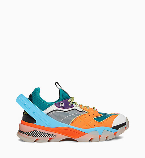 CALVIN KLEIN COLLECTION Carlos 10 Nappa Leather Trainers - CITRINE/RED/WHITE/YELLOW - CALVIN KLEIN COLLECTION SHOES & ACCESSORIES - main image