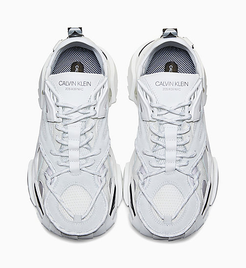 CALVIN KLEIN COLLECTION Strike 205 Calf Leather Trainers - BLACK - CALVIN KLEIN COLLECTION SHOES & ACCESSORIES - detail image 1