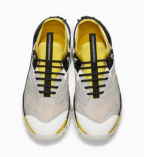 205W39NYC Nappa Leather Athletic Trainers - PLASTER/WHITE/BLACK/YELLOW - 205W39NYC SHOES & ACCESSORIES - detail image 1