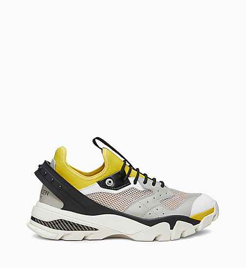 205W39NYC Nappa Leather Athletic Trainers - PLASTER/WHITE/BLACK/YELLOW - 205W39NYC SHOES & ACCESSORIES - main image