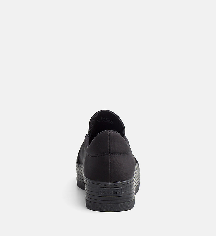 CALVIN KLEIN JEANS Nylon Twill Slip-On Shoes - WHITE/BLACK - CALVIN KLEIN JEANS WOMEN - detail image 3