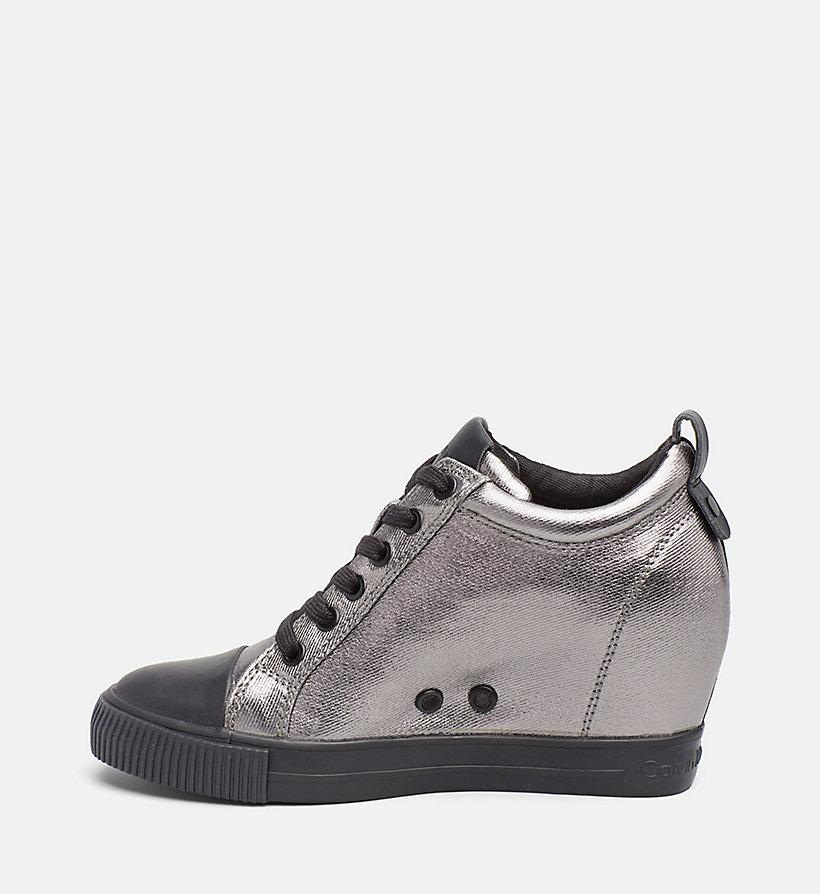 metallic canvas sneakers calvin klein 174 00000r0646