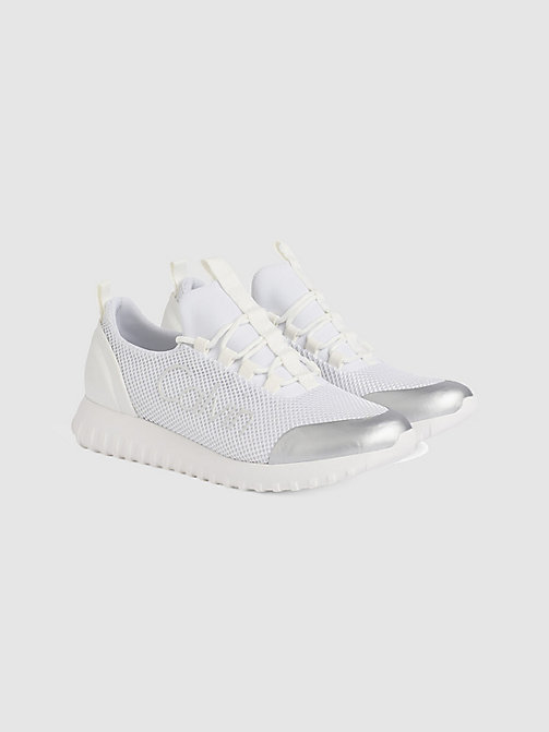 CALVIN KLEIN JEANS Mesh Trainers - WHITE/SILVER - CALVIN KLEIN JEANS TRAINERS - detail image 1