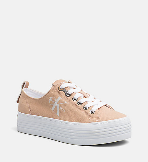 CALVIN KLEIN JEANS Canvas Sneakers - DUSK - CALVIN KLEIN JEANS TRAINERS - main image