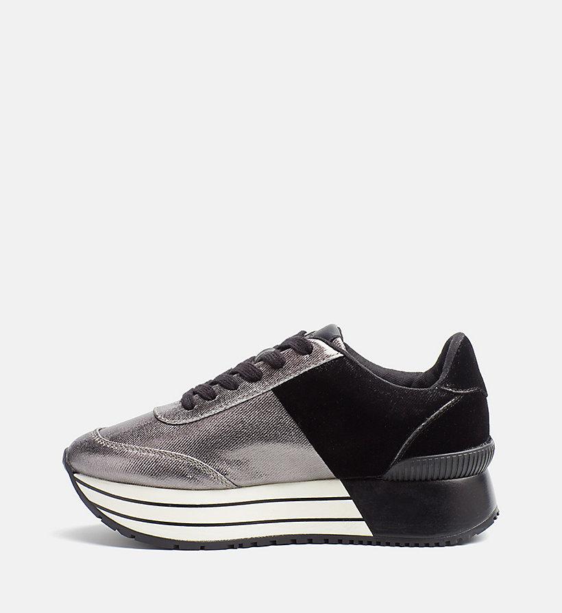 metallic canvas sneakers calvin klein 174 00000r0689
