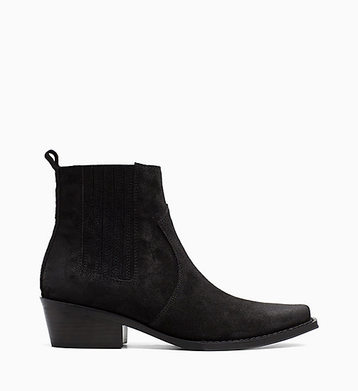 CALVIN KLEIN JEANS Suede Ankle Boots - BLACK - CALVIN KLEIN JEANS CORDUROY - main image