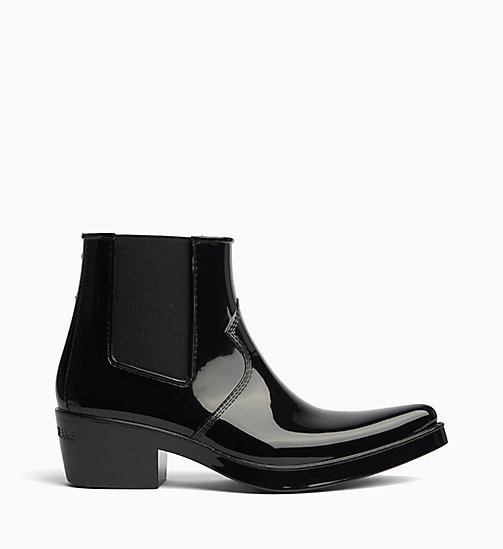CALVIN KLEIN JEANS Rubber Ankle Boots - BLACK - CALVIN KLEIN JEANS BOOTS - main image