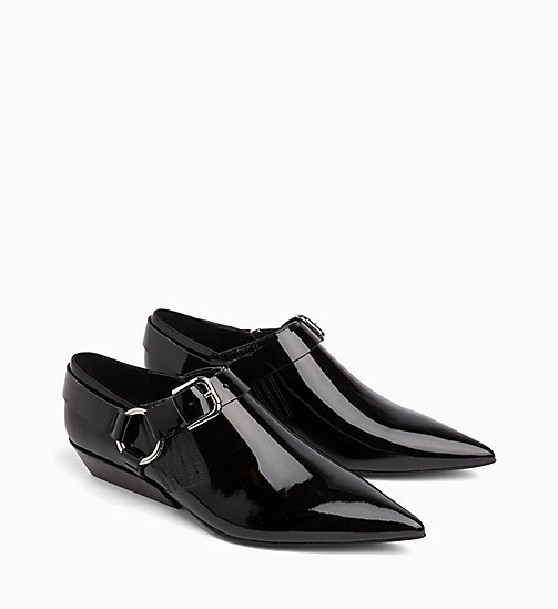 CALVIN KLEIN JEANS Patent Leather Shoes - BLACK - CALVIN KLEIN JEANS FLAT SHOES - detail image 1