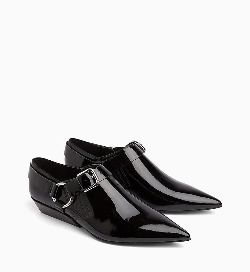 CALVIN KLEIN JEANS Patent Leather Shoes - WHITE - CALVIN KLEIN JEANS WOMEN - detail image 1
