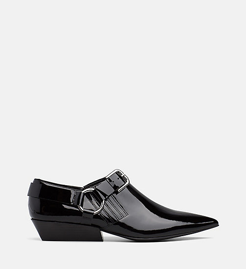 CALVIN KLEIN JEANS Patent Leather Shoes - BLACK - CALVIN KLEIN JEANS FLAT SHOES - main image