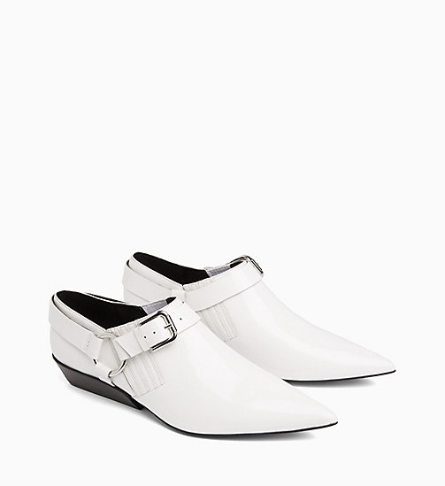 CALVIN KLEIN JEANS Patent Leather Shoes - WHITE - CALVIN KLEIN JEANS FLAT SHOES - detail image 1