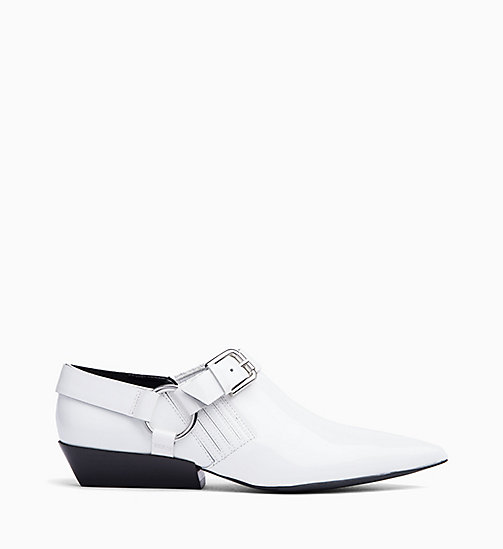 CALVIN KLEIN JEANS Patent Leather Shoes - WHITE - CALVIN KLEIN JEANS FLAT SHOES - main image