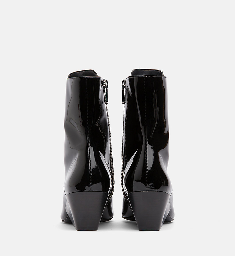 CALVIN KLEIN JEANS Patent Leather Ankle Boots - WHITE - CALVIN KLEIN JEANS WOMEN - detail image 2