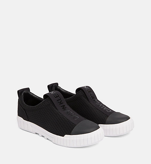 CALVIN KLEIN JEANS Mesh Slip-On Shoes - BLACK - CALVIN KLEIN JEANS FLAT SHOES - detail image 1