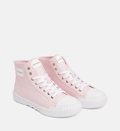 CALVIN KLEIN JEANS Nylon high-top sneakers - CHINTZ ROSE - CALVIN KLEIN JEANS SNEAKERS - detail image 1