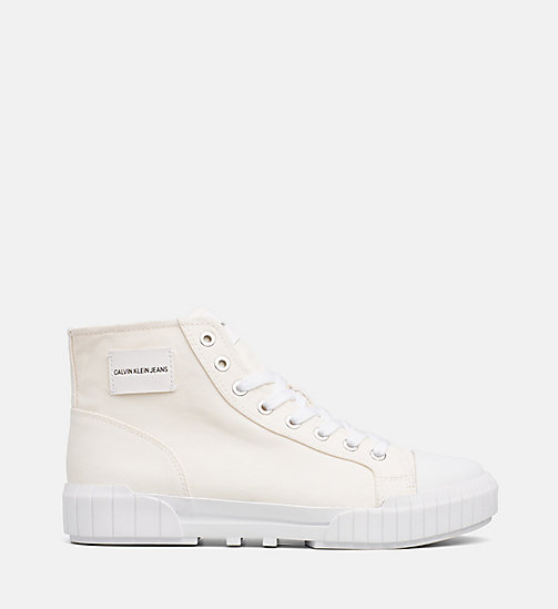 CALVIN KLEIN JEANS Nylon High-Top Trainers - OFF WHITE - CALVIN KLEIN JEANS TRAINERS - main image