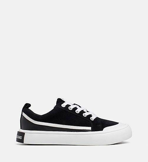 CALVIN KLEIN JEANS Suede Sneakers - BLACK/WHITE/BLACK - CALVIN KLEIN JEANS TRAINERS - main image