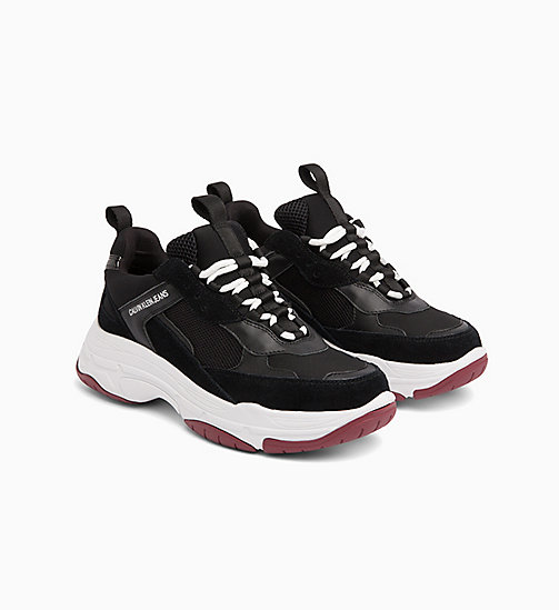 CALVIN KLEIN JEANS Chunky Sneakers aus Leder - BLACK - CALVIN KLEIN JEANS The New Off-Duty - main image 1