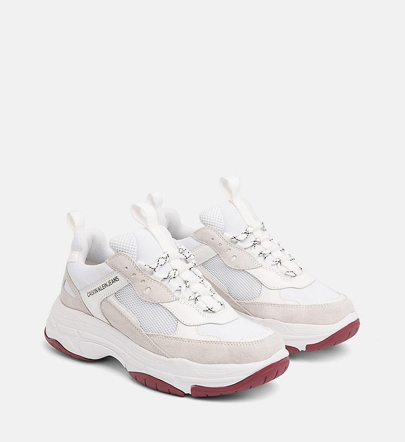 Sneaker Av6yq 00000r0802 Da Pelle In Klein® Calvin Chunky Donna Women uTJlF1c3K