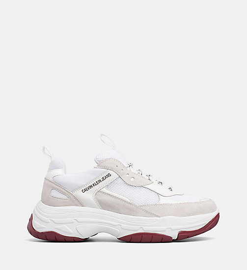 CALVIN KLEIN JEANS Chunky Sneakers aus Leder - WHITE - CALVIN KLEIN JEANS IN THE THICK OF IT FOR HER - main image