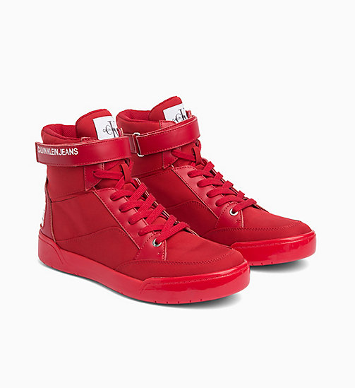 CALVIN KLEIN JEANS High-Top Trainers - SCARLET - CALVIN KLEIN JEANS TRAINERS - detail image 1
