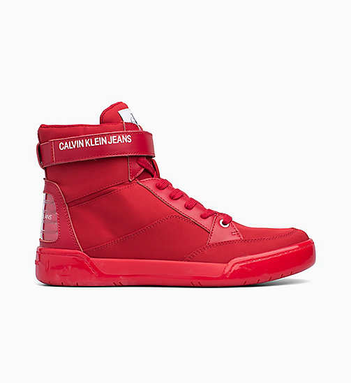 CALVIN KLEIN JEANS High-Top Trainers - SCARLET -  TRAINERS - main image