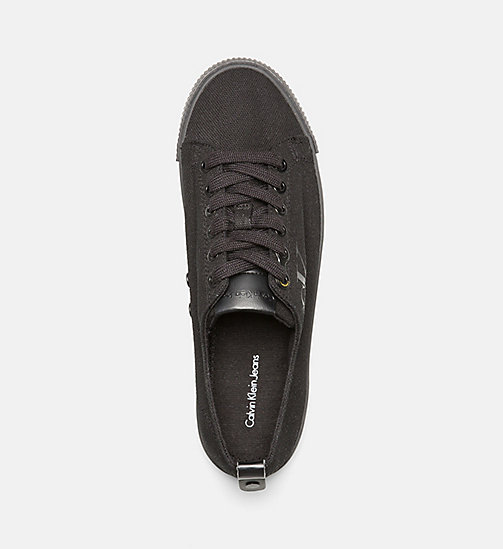 CALVIN KLEIN JEANS Canvas sneakers - BLACK/BLACK - CALVIN KLEIN JEANS SHOES & ACCESSORIES - detail image 1