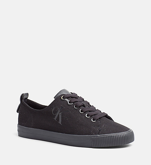 CALVIN KLEIN JEANS Canvas Trainers - BLACK/BLACK - CALVIN KLEIN JEANS SHOES & ACCESORIES - main image