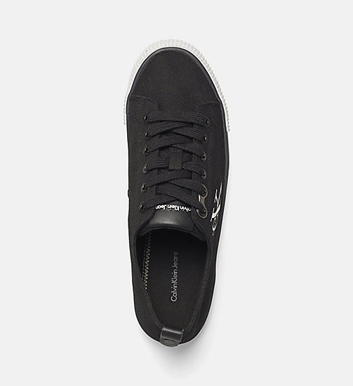 CALVIN KLEIN JEANS Canvas Sneakers - BLACK/BLACK - CALVIN KLEIN JEANS TRAINERS - detail image 1